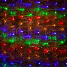 Гирлянда - сеть 2х1,5м, черный ПВХ, 240 LED Мультиколор