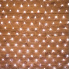 Гирлянда - сеть 1,8х1,5м, прозрачный ПВХ, 180 LED Белые
