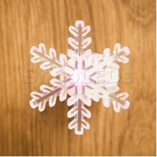 """Фигура светодиодная на присоске """"Снежинка маленькая"""", RGB"""