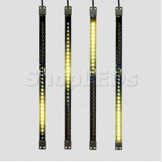 Сосулька светодиодная 50 см, 9,5V, двухсторонняя, 32х2 светодиодов, пластиковый корпус черного цвета, цвет светодиодов желтый