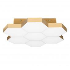 750073 (MX13003032-7А) Люстра потол FAVO LED-35W 1680LM Satin Gold 4000K (в комплекте)